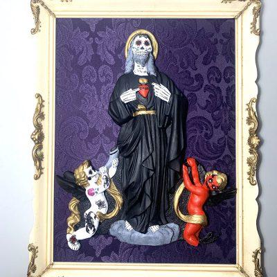 angeles y demonios Calavera mexicana Les morts